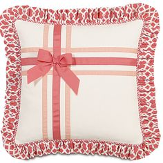 Eastern Accents Matilda Polyester Adler Decorative Pillow with Ribbons