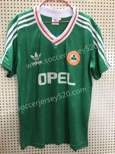 497b1f5c093 Retro Version Ireland Home Green Thailand Soccer Jersey AAA-811