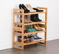 TRINITY Shoe Rack (2 Pack), Bamboo
