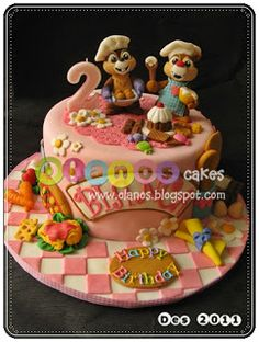 Chef Chip and Dale Birthday Cake