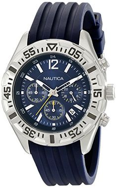 Men s Wrist Watches - Nautica Mens N17667G NST 402 Stainless Steel  Multifunction Watch  gt  gt b91edf86e3a