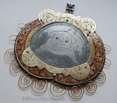 Pug love jewelry display hanger by DiPiazzaMetalworks on Etsy