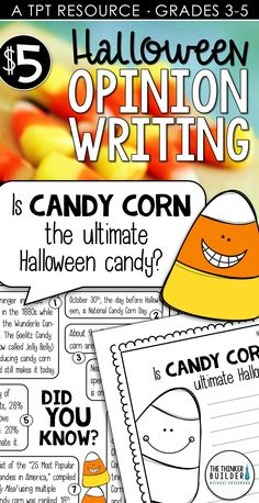 Halloween Writing: Opinion Writing Lessons & Activities {Question and Opinion Writing, Persuasive Writing, Teaching Writing, Writing Activities, Third Grade Writing, 4th Grade Reading, Second Grade, 5th Grade Classroom, Classroom Ideas