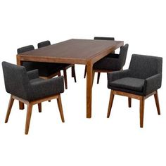 Beautiful Pepper 9 Piece Solid Wood Dining Set Kitchen Dinings Room Furniture from top store