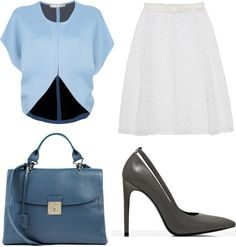 Office Outfit inspiration-in blue