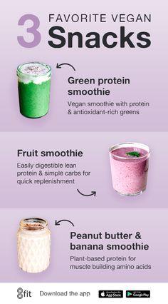 Vegan Smoothies for Snack Time - Vegan Recipes - Nutrition Good Smoothies, Vegan Smoothies, Fruit Smoothies, Smoothie Recipes, Proper Nutrition, Nutrition Plans, Diet And Nutrition, Cheese Nutrition
