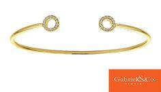 14k Yellow Gold Diamond Bangle by Gabriel & Co.