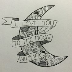 I love you to the moon and back. #calligraphy #calligratype #typography #lettering #KLigraphy