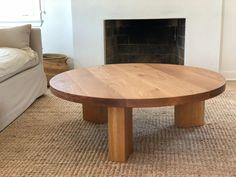 THE OG 40 White Oak Modern Round 3 leg Coffee Table | Etsy Made Coffee Table, Round Wood Coffee Table, Modern Coffee Tables, Plank Table, Handmade Table, White Oak, Diy Home Decor, Decoration, Interior