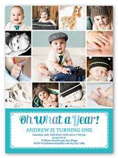 First Birthday Invitations | 1st Birthday Invites for Boys | Shutterfly