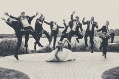 www.sunflowerproductionsllc.com Bridal party pose!