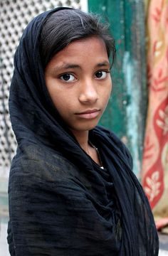 Young Girl at the Mosque by cowyeow (india)