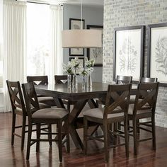 Felicia 9-piece Counter-height Dining Set