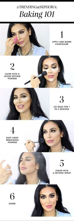 what is baking? how to bake your face with makeup