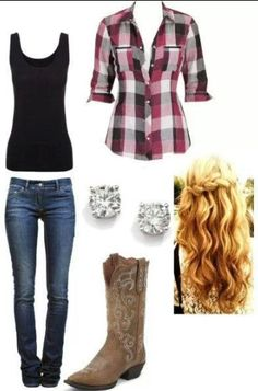 A great outfit that matches any skin tone and hair color. Can even my worn with a good pair of toms, and even a casual hairdo.