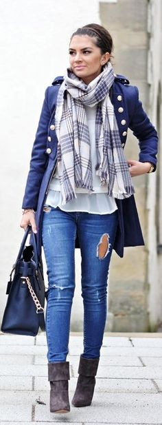 Navy Military Inspired Coat by Fashion Hippie Loves
