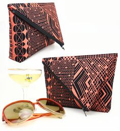 Handmade Envelope Clutch bag with diagonal zipper closure  Hello Sugar Cane: Tutorial Time