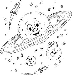 cute planet coloring pages