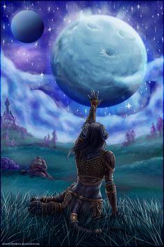 Warcraft Fan Art Gallery - The Sky of Draenor - Shadowmoon Valley - Warlords of Draenor  Sky of Draenor #Silvery69Golderen