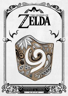 Zelda legend - Kokiri shield Art Print