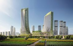 Gallery of SOM Envisions a Vibrant, Diverse, and Ecological Urban Community in Guangming District, Shenzhen - 1 Shenzhen, Ecology, Vibrant, Community, Amazing Architecture, Modern Architecture, Master Plan, Skyscraper, Urban Design