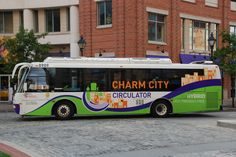 "Take a Free Ride on Baltimore's Hybrid Bus, the ""Charm City Circulator"".  A great way to relax and take a tour of the city after a busy day exploring."
