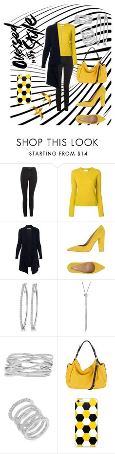 """""""black and yellow"""" by cecilvenekamp ❤ liked on Polyvore featuring Topshop, Allude, Broccoli, BERRICLE, M&Co, MOFE and Cole Haan"""