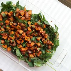 Chipotle Maple Roasted Sweet Potatoes and Baby Kale Salad with Farro