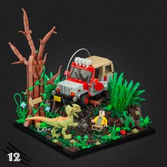 The journey through Jurassic Park continues with eight more stunning scenes in Jonas Kramm's vignette series. Lego Jurassic World, Lego Technic, Pokemon, Legos, Lego Autos, Lego Cars, Technique Lego, Casa Lego, Jurrassic Park