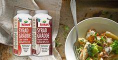 Arla Köket Syrad grädde är precis vad namnet beskriver – en grädde som syrats med mjölksyrabakterier för en lätt syrlig smak.
