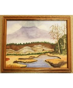 """""""An Active Volcano"""" is an original watercolor by Sister Mary Oliver Reising"""