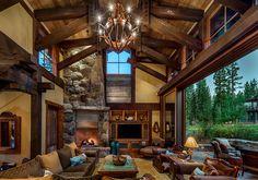 The Cabin Austin chalet par Walton Architecture - Martis Camp, Usa Cabin Design, House Design, Texas Mansions, Style Rustique, 3d Home, Decoration Design, Ranch Style, Rustic Interiors, House Interiors