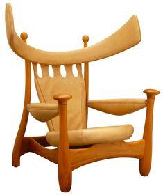 Sergio Rodrigues, Icon of Brazilian Midcentury Design, Dies at 86 - Metropolis Mod Furniture, Furniture Design, Furniture Ideas, Love Chair, Modern Architects, Wooden Stools, Furniture Companies, Mid Century Design, Modern Chairs