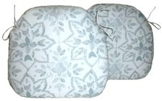 2 Spindle Chair Seat Pads Avignon Pebble