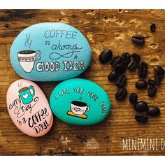 Coffee quotes on rocks