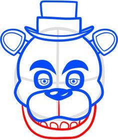 How to Draw Freddy Fazbear from Five Nights at Freddys