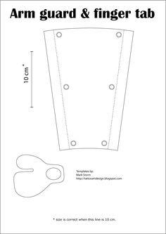 archery arm guard basic pattern