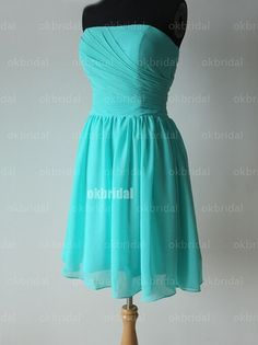 turquoise bridesmaid dress short prom dress short by okbridal