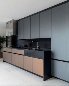5 Sparkling Tips: Contemporary Office With Couch coastal contemporary decor.Contemporary Office With Couch clean contemporary decor. Modern Kitchen Design, Interior Design Kitchen, Stylish Kitchen, Kitchen Furniture, Kitchen Decor, Kitchen Ideas, Kitchen Inspiration, One Wall Kitchen, Furniture Decor