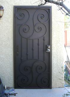 Wrought Iron Security Door - SD0073