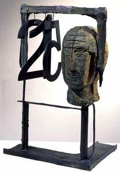 "Grandi maestri:  Mimmo Paladino, Bronzo ""Senza titolo"", 2000 Sculpture Museum, Assemblage Art, Italian Artist, Medium Art, Wood Art, Printmaking, Art Dolls, Contemporary Art, Painting"