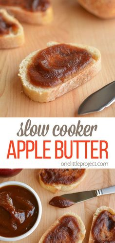 This recipe for slow cooker homemade apple butter is incredibly easy! The hardest part is peeling the apples and waiting for it to finish cooking. But when it's done, it's worth the wait. You can use it just like jam. I had it on my toasted raisin bread for breakfast this morning and it was delicious! Brunch Recipes, Appetizer Recipes, Snack Recipes, Snacks, Slow Cooker Recipes, Crockpot Recipes, Homemade Apple Butter, Raisin Bread, Easy Chicken Dinner Recipes