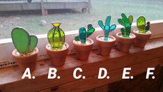Vitrail cactus ! Cadeau idéal pour les amoureux de la plante ou succulente !