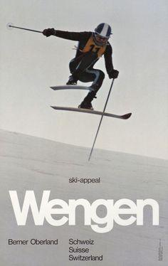 Wengen, ski-appeal, Berner Oberland - Galerie 123 - Original Vintage Posters