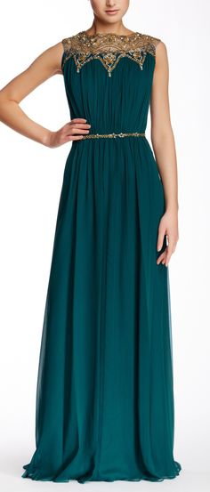 Marchesa emerald gown