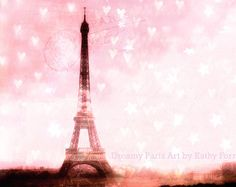 Paris Photography Eiffel Tower Print Baby Girl by KathyFornal