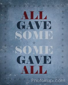thinking about the men and women in our armed forces motivates me to give more in everything i do