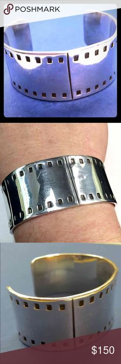"""Vintage Weiss Sterling Silver Bracelet Cuff Incredible Weiss Sterling Silver Vintage Cuff, from 1940's. Stamped inside band 925 Sterling and signed with hallmark """"Weiss"""" and """"STIT"""". An heirloom treasure! Vintage Jewelry Bracelets"""