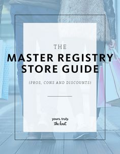 From the bigger department stores to online retailers, we've got the nitty gritty on everything wedding registry.