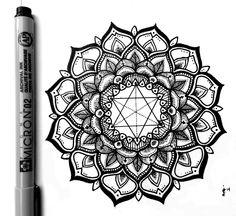 Finished Mandala. Enjoy! Micron Liner on Moleskine